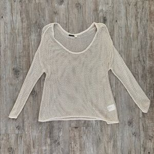 Gold Mesh Sweater Size S NWOT